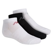 New Balance No-Show Socks - 3-Pack, Below the Ankle (For Little and Big Kids) in White/Black/White - Closeouts