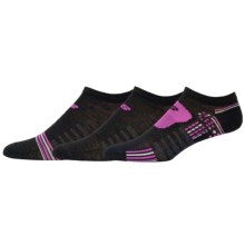 New Balance No Show Socks - 3-Pack, Below the Ankle (For Women) in Black/Fuschia - Closeouts