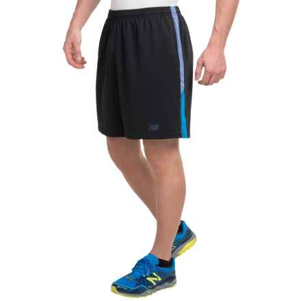 "New Balance Novelty Knit Shorts - 9"" (For Men) in Black Blue Black - Closeouts"