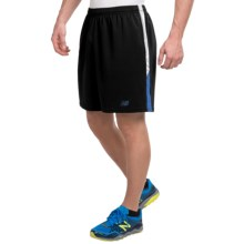 "New Balance Novelty Knit Shorts - 9"" (For Men) in Black Grey - Closeouts"
