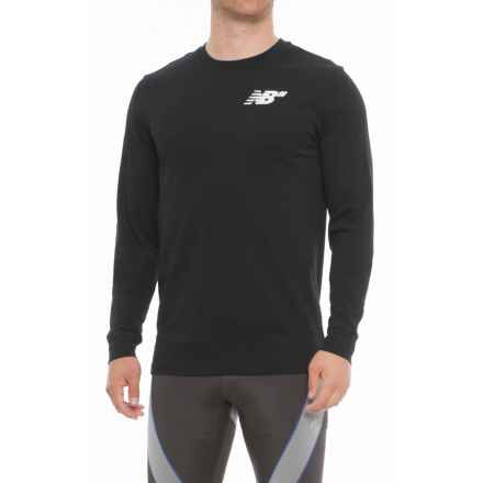 New Balance Numeric T-Shirt - Long Sleeve (For Men) in Black - Closeouts