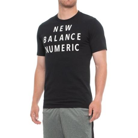 New Balance Numeric Wordmark Running T-Shirt - Short Sleeve (For Men) in Black