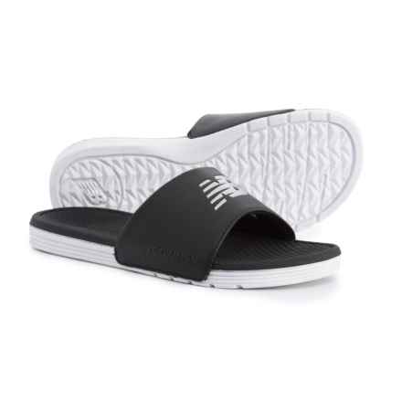 New Balance One-Band Slide Sandals (For Women) in Black/White - Closeouts