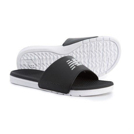 New Balance One-Band Slide Sandals (For Women) in Black/White