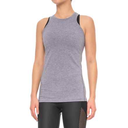 New Balance Open-Back Tank Top (For Women) in Deep Cosmic Heather - Closeouts