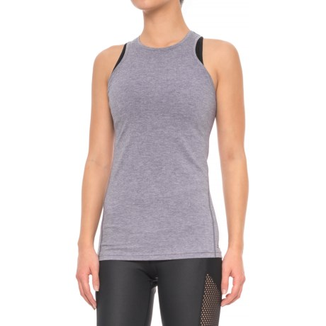 New Balance Open-Back Tank Top (For Women) in Deep Cosmic Heather
