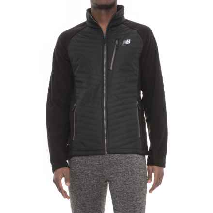 New Balance Polar Fleece Quilted Front Jacket - Insulated (For Men) in Black - Closeouts