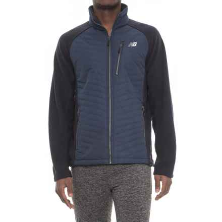 New Balance Polar Fleece Quilted Front Jacket - Insulated (For Men) in Navy - Closeouts