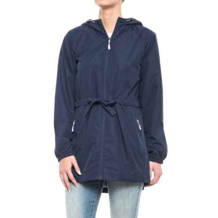New Balance Poly Dobby Anorak Jacket (For Women) in Pigment Navy With Silver Mink Mesh, Silver Mink Bu - Closeouts