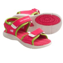 New Balance Poolside Sport Sandals (For Kids and Youth) in White/Pink - Closeouts