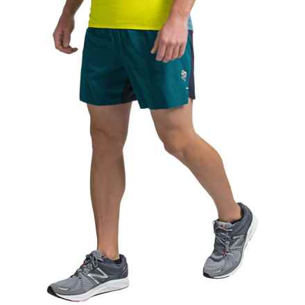 "New Balance Precision Run 6"" Shorts (For Men) in Castaway/Galaxy - Closeouts"