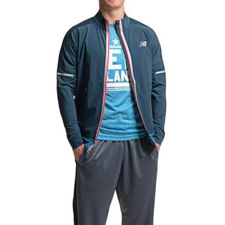 New Balance Precision Run Jacket (For Men) in Galaxy - Closeouts