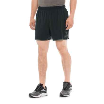 New Balance Precision Running Shorts - Built-In Lining (For Men) in Black - Closeouts