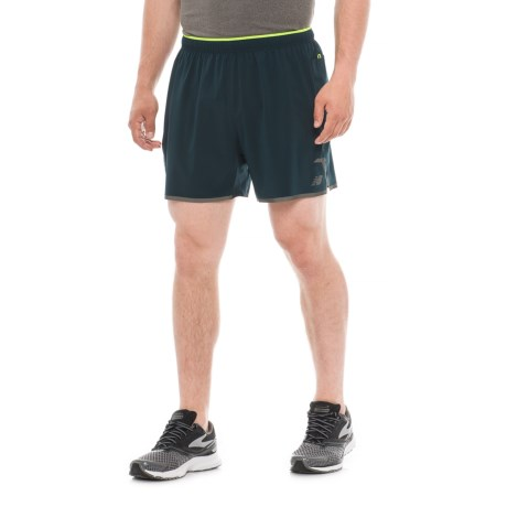 New Balance Precision Running Shorts - Built-In Lining (For Men) in Galaxy