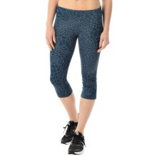 New Balance Printed Capris (For Women) in Navy Print - Closeouts