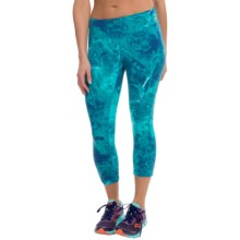 New Balance Printed Capris (For Women) in Water Vapor/Sea Glass - Closeouts