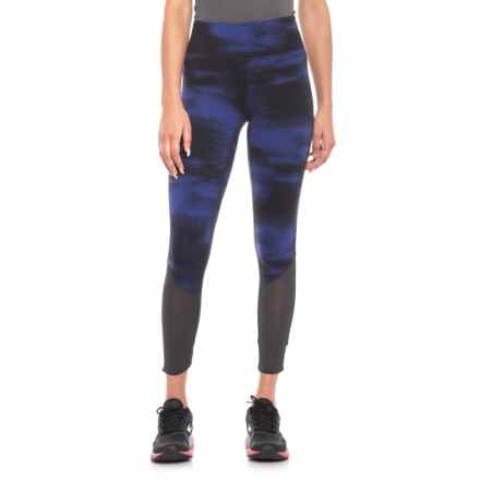 New Balance Printed Elixir Tights (For Women) in Blue/Black - Closeouts