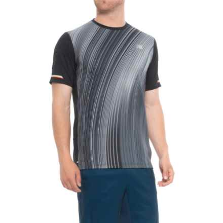 New Balance Printed NB Ice 2.0 Shirt - Short Sleeve (For Men) in Black - Closeouts