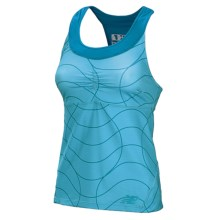 New Balance Printed Racerback Tank Top (For Women) in Blue Infinity - Closeouts
