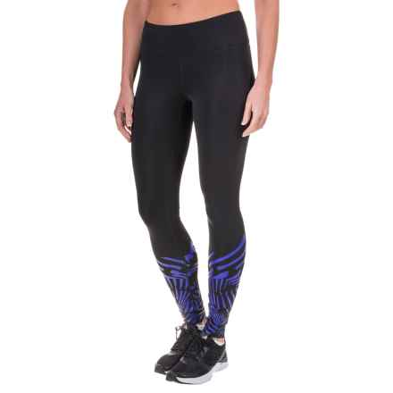 New Balance Printed Tights (For Women) in Black/Spectral - Closeouts