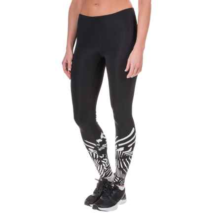 New Balance Printed Tights (For Women) in Black/White - Closeouts