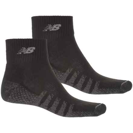 New Balance Quarter Running Socks - 2-Pack, Ankle (For Men) in Black - 2nds