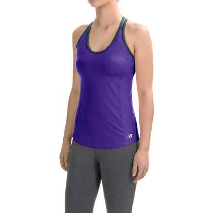 New Balance Racerback Bra Top (For Women) in Spectral Purple - Closeouts