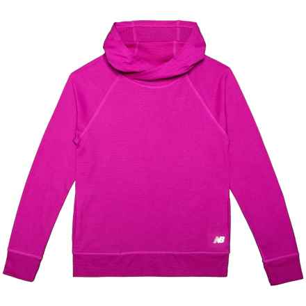 New Balance Raglan Sleeve Hoodie (For Big Girls) in Purple - Closeouts