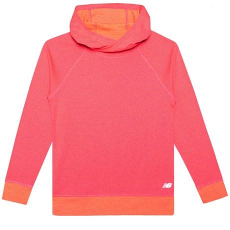 New Balance Raglan Sleeve Hoodie (For Big Girls) in Vermillion Tangerine