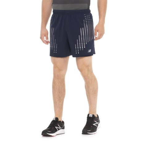 """New Balance Reflective Impact Shorts - 5"""", Built-In Briefs (For Men) in Pigment"""