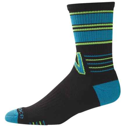 New Balance Retro Lifestyle Socks - Crew (For Women) in Black/Blue - Closeouts