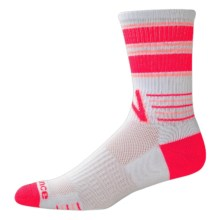 New Balance Retro Lifestyle Socks - Crew (For Women) in White/Pink - Closeouts