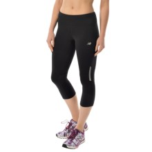 New Balance Run Capris (For Women) in Black - Closeouts