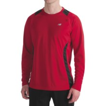New Balance Run Shirt - Long Sleeve (For Men) in Pompeian Red - Closeouts