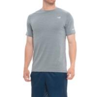 New Balance Seasonless Short Sleeve Mens T-Shirt (Athletic Grey Multi/Dynamite Heather)