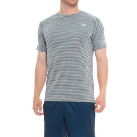 New Balance Seasonless T-Shirt - UPF 40, Short Sleeve (For Men) in Athletic Grey Multi - Closeouts