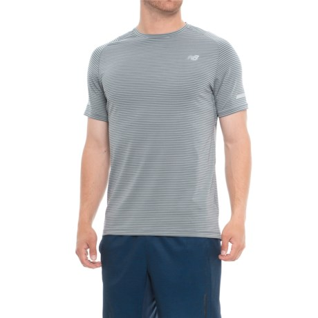 New Balance Seasonless T-Shirt - UPF 40, Short Sleeve (For Men) in Athletic Grey Multi