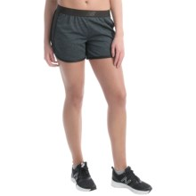 New Balance Semi-Fitted High-Performance Shorts (For Women) in Black Grey - Closeouts