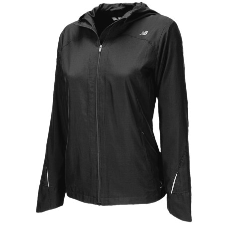 New Balance Sequence Hooded Jacket - Front Zip (For Women) in Black