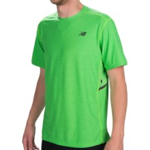 New Balance Shift T-Shirt - Short Sleeve (For Men) in Chemical Green Heather - Closeouts