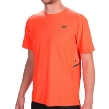New Balance Shift T-Shirt - Short Sleeve (For Men) in Dynamite Heather - Closeouts