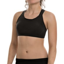 New Balance Smooth Operator Sports Bra - High Impact (For Women) in Black - Closeouts