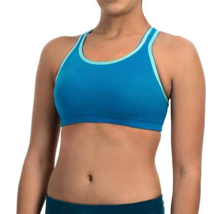 New Balance Smooth Operator Sports Bra - High Impact (For Women) in Wave Blue - Closeouts
