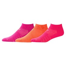 New Balance Solid Ankle Socks - 3-Pack (For Little and Big Girls) in Pink/Orange/Coral - Closeouts