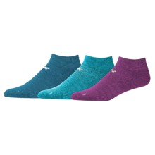 New Balance Solid Ankle Socks - 3-Pack (For Little and Big Girls) in Purple/Teal/Blue - Closeouts