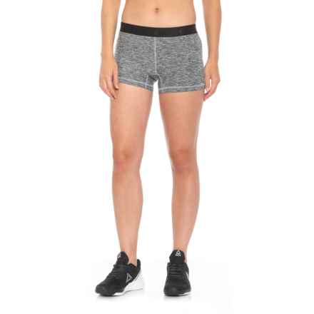 New Balance Space-Dye Fitted Shorts (For Women) in Athletic Gray - Closeouts