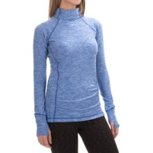 New Balance Space-Dye Knit Pullover Shirt - Long Sleeve (For Women) in Ocean Blue Heather - Closeouts