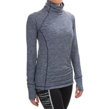 New Balance Space-Dye Knit Pullover Shirt - Long Sleeve (For Women) in Pigment Heather - Closeouts