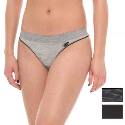 New Balance Space-Dye Seamless Panties - 3-Pack, Thong (For Women) in Multi - Closeouts