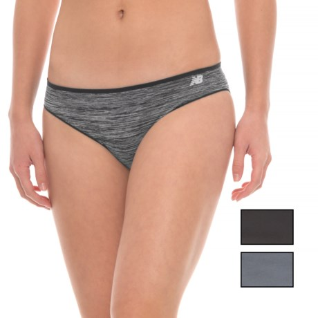 New Balance Space-Dye Seamless Panties - Hipster, 3-Pack (For Women) in Black Fsd/Black/Thunder